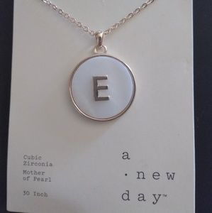 NWT A New Day initial E necklace